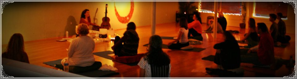 Chanting at The Seaside Yoga Sanctuary